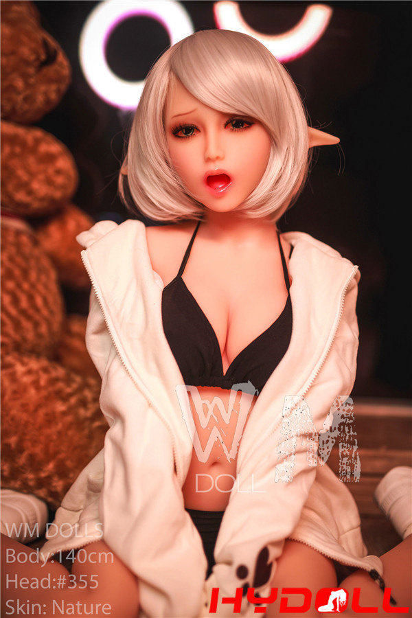 Sex doll with white hair