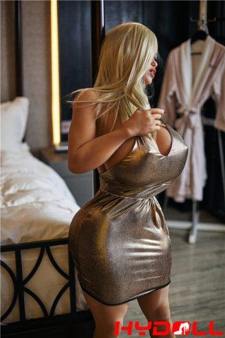 Blonde busty sex doll