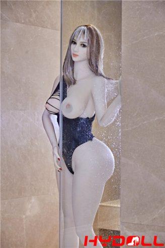 Long hair big tits sex doll